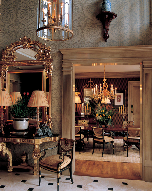 William r eubanks interior design and antiques for Home dining hall design
