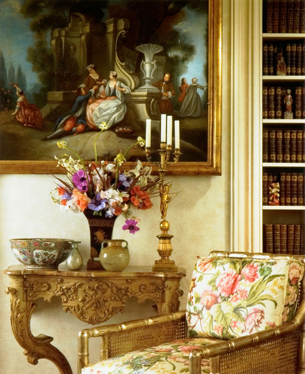 William r eubanks interior design and antiques for English style library
